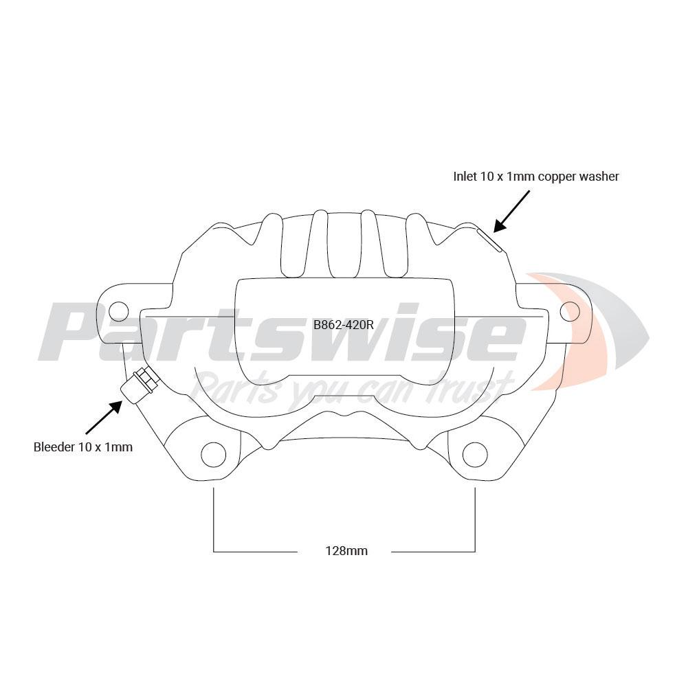 PW39014R Caliper Assembly Remanufactured R/H/F