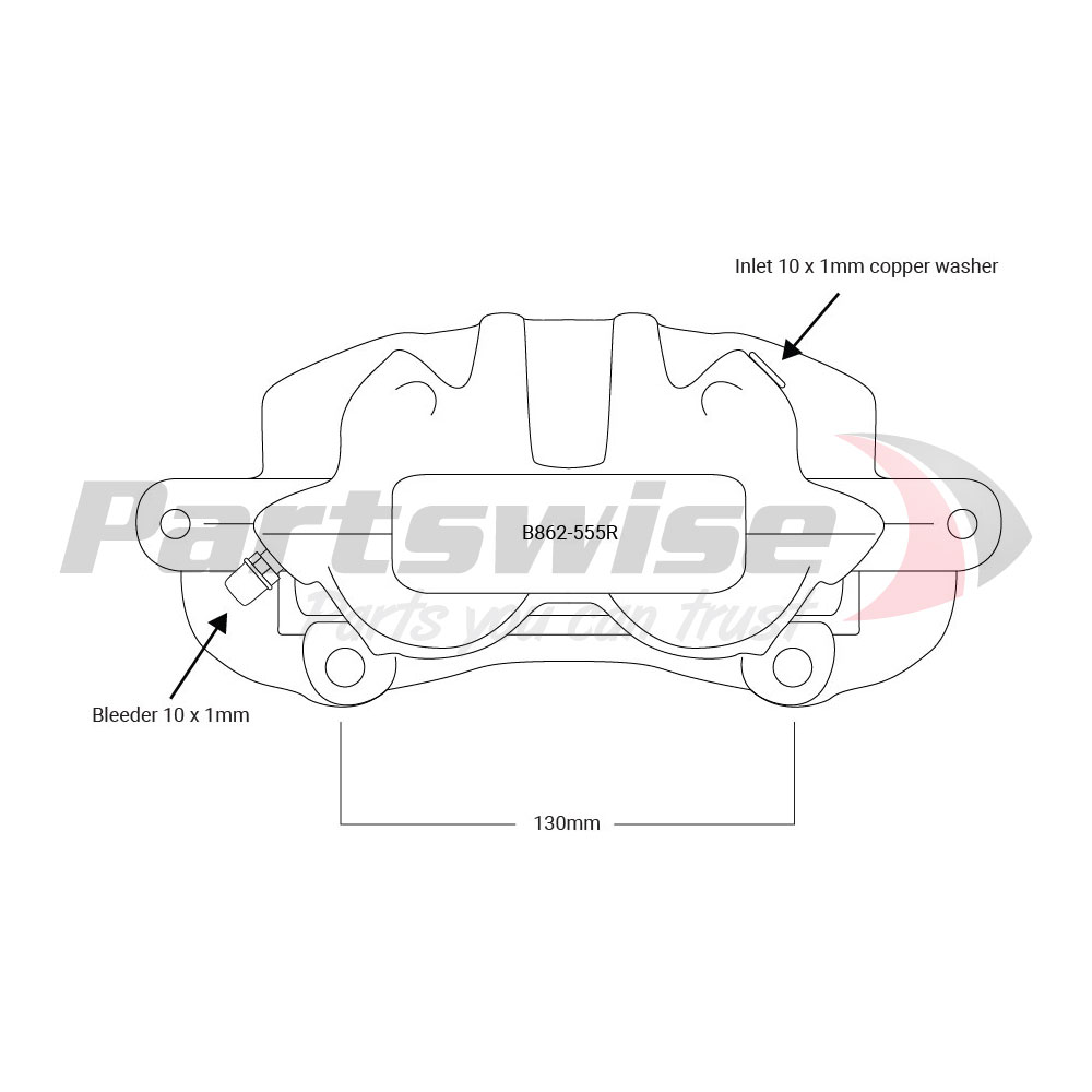 PW39001R Caliper Assembly Remanufactured