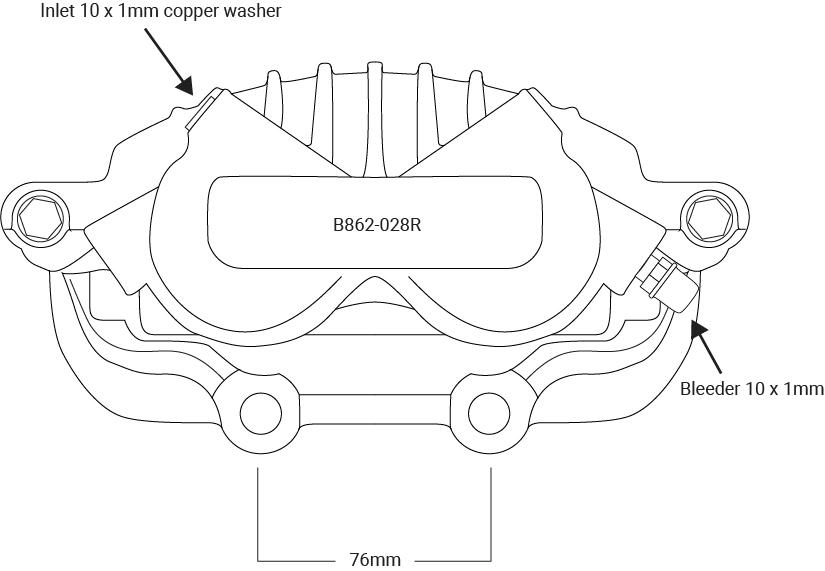 B862-028R Caliper Assembly Remanufactured R/H/F