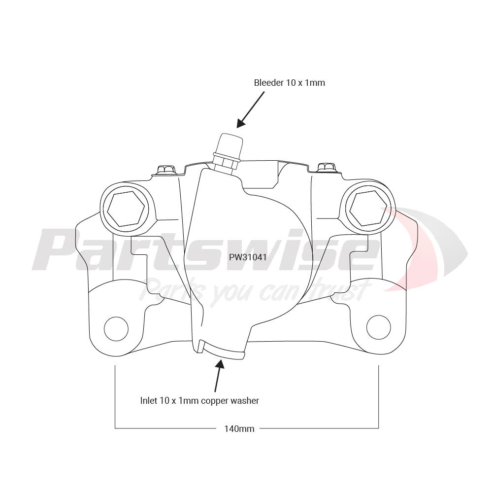 PW31041 Caliper assembly new L/H/R 48mm