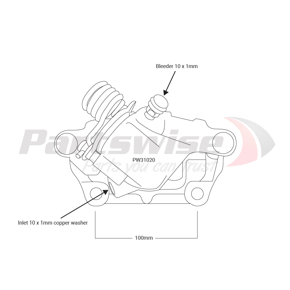 PW31020 Caliper assembly new R/H/R 38mm