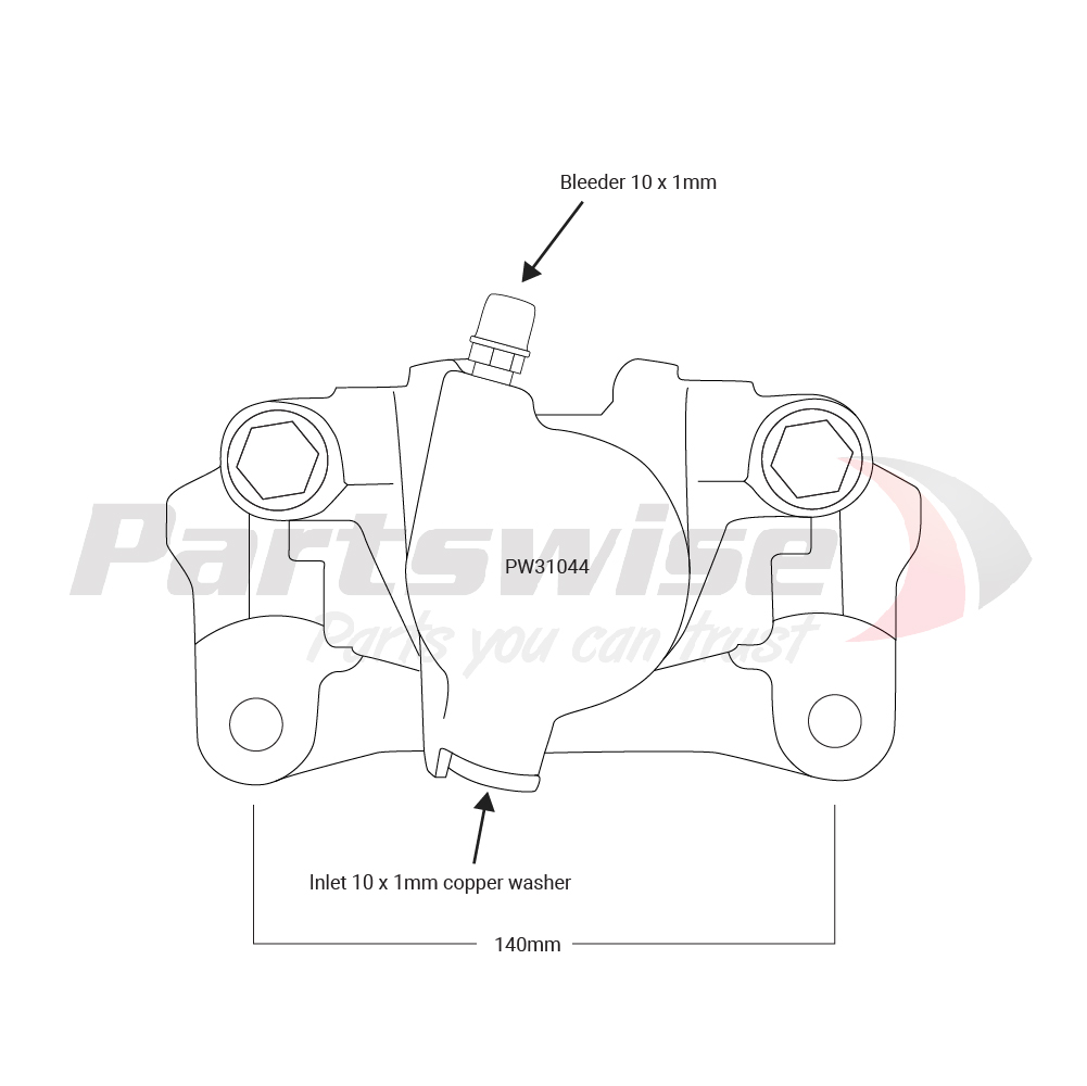 PW31044 Caliper assembly new R/H/R 48mm