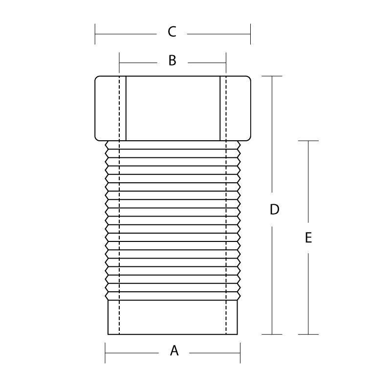 P4276 Tube nut 3/8-20 BSF 3/16 Pipe