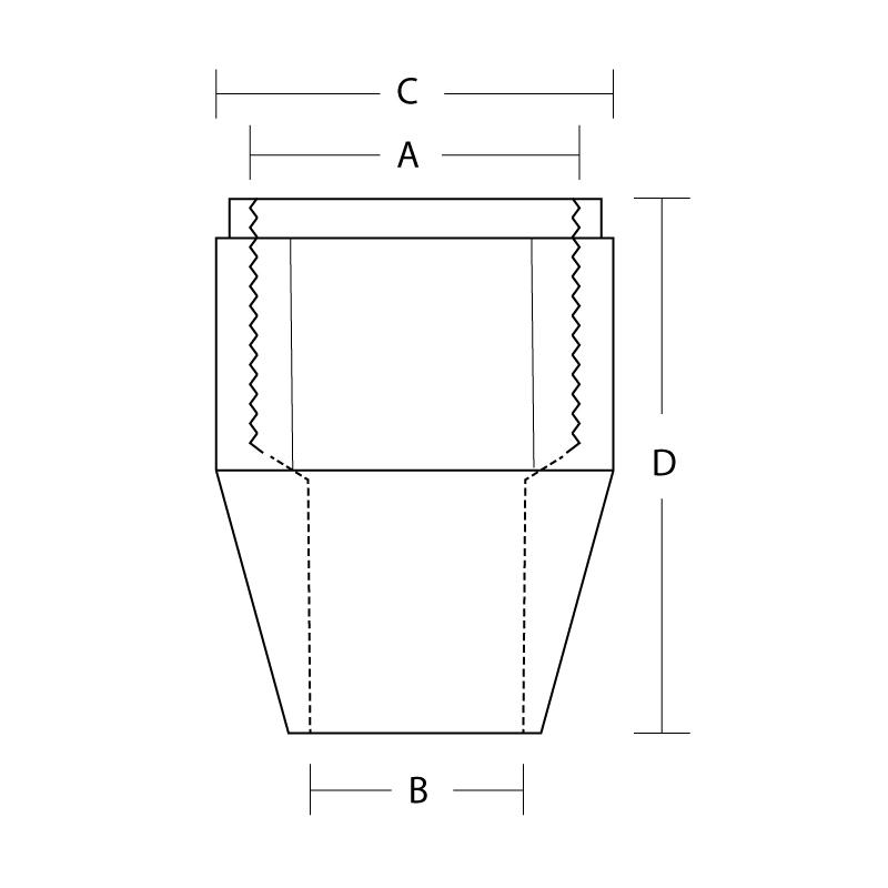 L4200-3 Tube nut Female 3/8-24 thread 3/16 Pipe