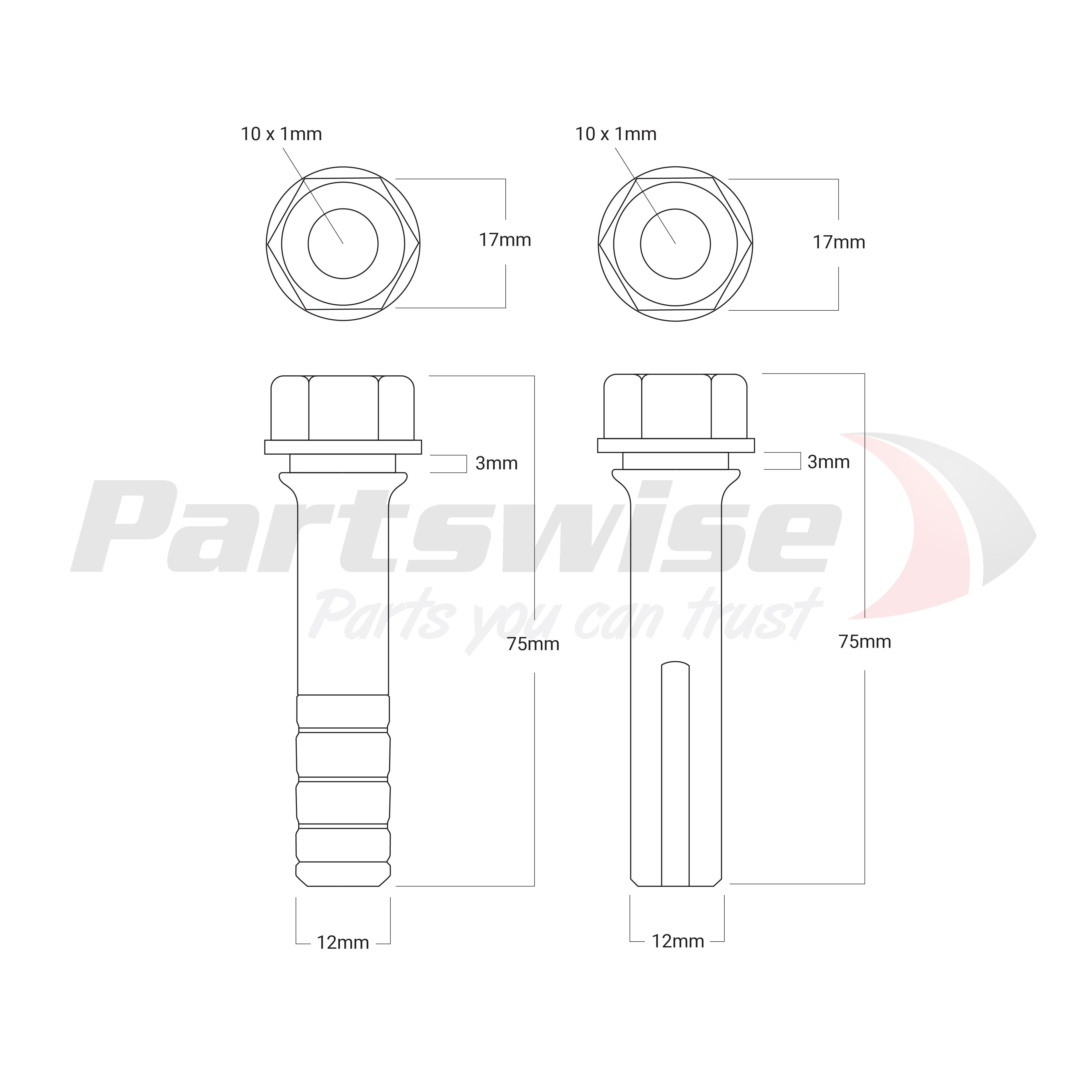 PW20200 Caliper guide pin kit