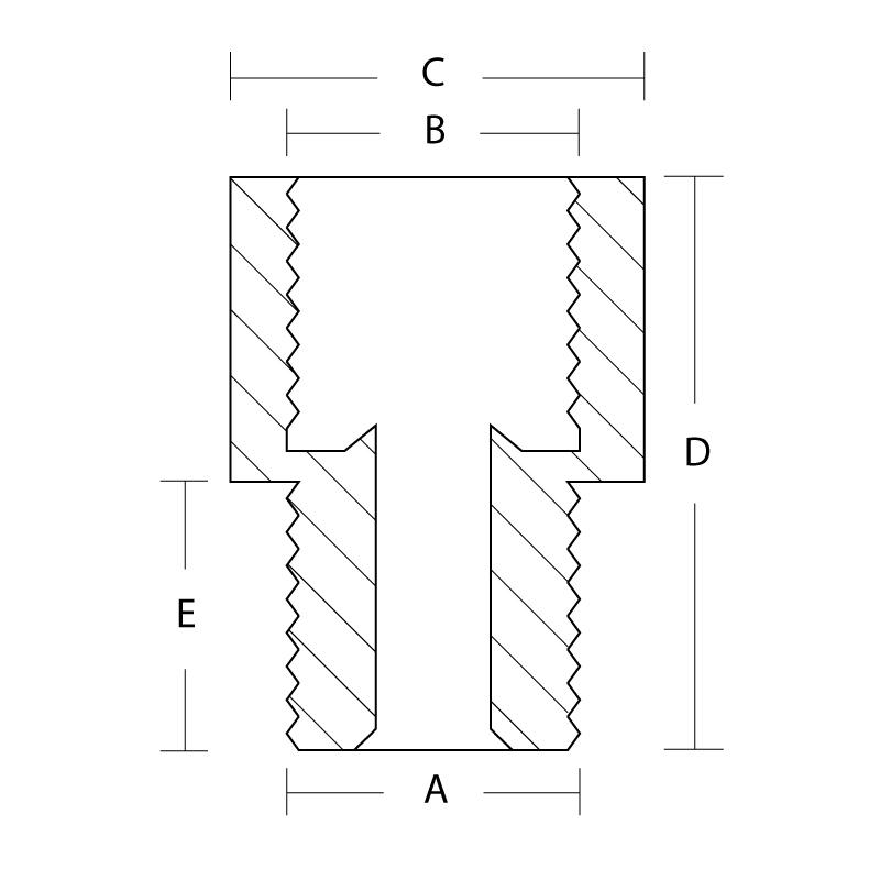 M202-5 Adapter 1/8 Npt Male 1/2-20 Inv Female